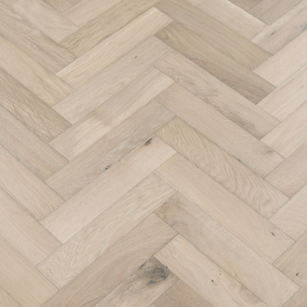 Glacier Herringbone - 90mm x 14/3mm x 400mm Rustic Grade Brush & UV Oiled Engineered Wood Flooring