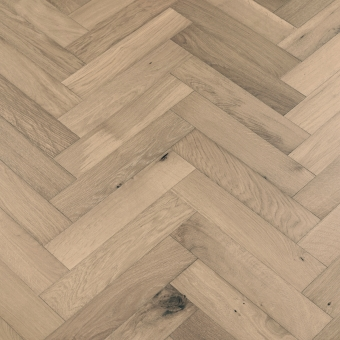 Iron Herringbone - 90mm x 14/3mm x 400mm Rustic Grade Brush & UV Oiled Engineered Wood Flooring