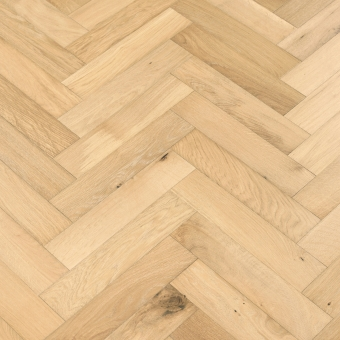 Linen 5% Herringbone - 90mm x 14/3mm x 400mm Rustic Grade Brush & UV Oiled Engineered Wood Flooring