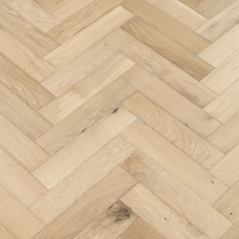 Linen Herringbone - 90mm x 14/3mm x 400mm Rustic Grade Brush & UV Oiled Engineered Wood Flooring