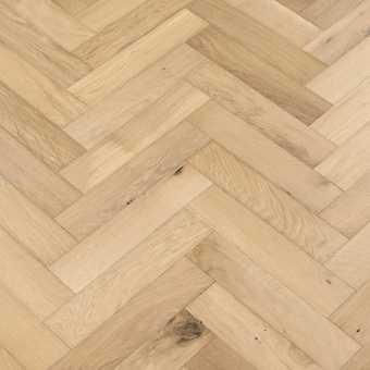 Marine Herringbone - 90mm x 14/3mm x 400mm Rustic Grade Brush & UV Oiled Engineered Wood Flooring