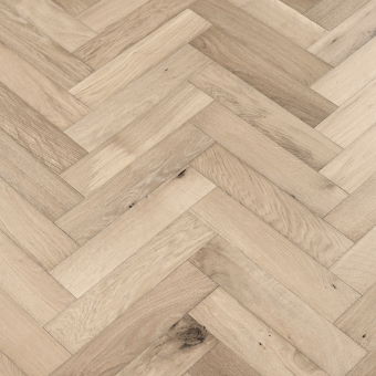 Moonstone Herringbone - 90mm x 14/3mm x 400mm Rustic Grade Brush & UV Oiled Engineered Wood Flooring