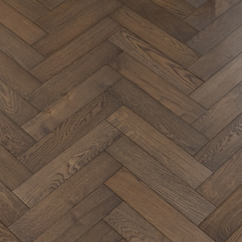 Nordic Herringbone - 90mm x 14/3mm x 400mm Rustic Grade Brush & UV Oiled Engineered Wood Flooring