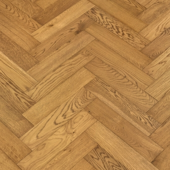 Pearl Herringbone - 90mm x 14/3mm x 400mm Rustic Grade Brush & UV Oiled Engineered Wood Flooring