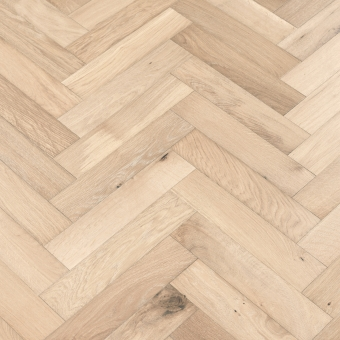 Platinum Herringbone - 90mm x 14/3mm x 400mm Rustic Grade Brush & UV Oiled Engineered Wood Flooring