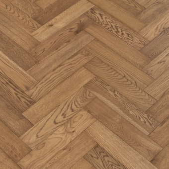 Prune Herringbone - 90mm x 14/3mm x 400mm Rustic Grade Brush & UV Oiled Engineered Wood Flooring