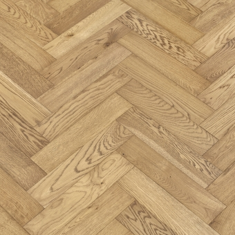 Pyrite Herringbone - 90mm x 14/3mm x 400mm Rustic Grade Brush & UV Oiled Engineered Wood Flooring