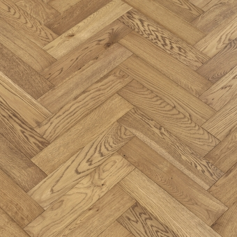 Saffron Herringbone - 90mm x 14/3mm x 400mm Rustic Grade Brush & UV Oiled Engineered Wood Flooring