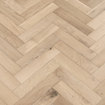 Sand Herringbone - 90mm x 14/3mm x 400mm Rustic Grade Brush & UV Oiled Engineered Wood Flooring