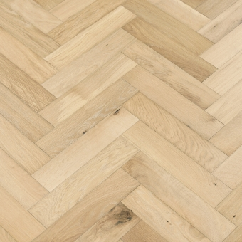 Satin Herringbone - 90mm x 14/3mm x 400mm Rustic Grade Brush & UV Oiled Engineered Wood Flooring