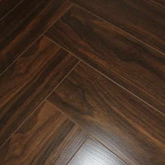 Versailles Walnut 12mm Herringbone Laminate Flooring